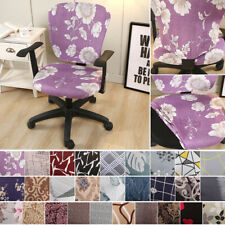 Swivel Computer Chair Cover Stretch Seat Slipcover Armchair Office Remove Cover