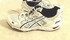 Men Asics Gel Sneaker White Black Leather Lace Up Oxford Size 9.5