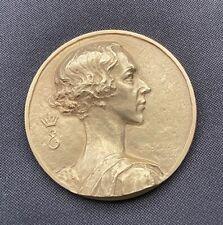 Médaille de la Reine Elisabeth de Belgique. Alfred Courtens 1953. Fonsoni. EA