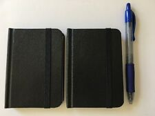 """2-pack New Small Black Hardcover Pocket Notebook Journal 96 Pages 4.5 x 3"""" Ruled"""