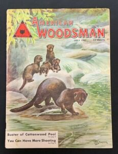 July 1951 VTG American Woodsman Magazine ~ a/s Mink Illustration