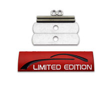 Red Limited Edition Logo Car Front Grille Emblem Metal Racing Sport Grill Badge