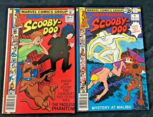 1978 1979 Marvel Hanna-Barbera's Scooby-Doo 2 Comic Book Lot 7 & 9
