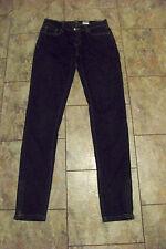 womens abbey dawn dark wash zip skinny denim jeans size 5 28 x 32