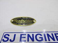 NORTON DOMINATOR AJS MATCHLESS ROADHOLDER FORK SHROUD BRASS BADGE 06-7114 SJ398