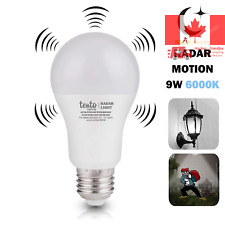 Motion Sensor LED Bulb Radar Motion Detecting 9w LED Bulb 60 Watts Equivalent...