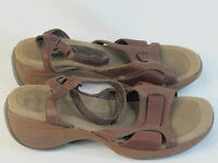 Merrell Brown Leather Open Toe Ankle Strap Sandals Women's Size 6 M US EUC