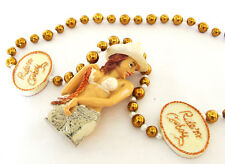 Sexy Cowgirl Bead Necklace Western Ride a Cowboy New Orleans Mardi Gras Beads