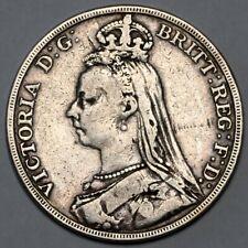 1892 QUEEN VICTORIA GREAT BRITAIN SILVER CROWN COIN