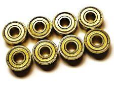 * 8 Pack Abec 7 GOLD Swiss Cuscinetti Skateboard nominale. Longboard SCOOTER dei pattini
