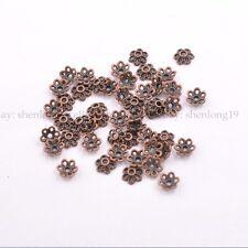 100Pcs Tibetan Silver/Gold/Bronze Flower Spacer Bead Caps Jewelry Findings