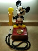Vintage 1976 The Mickey Mouse Phone Landline Rotary Dial Telephone Walt Disney