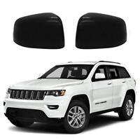 For 2011-19 Jeep Grand Cherokee Dodge Durango Rear View Mirror Cover Gloss Black