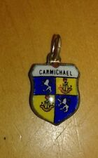 Carmichael Coat of Arms / Family Crest Silver Plated Enamel Charm