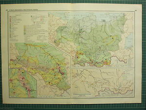 1955 LARGE RUSSIAN MAP ~ RUSSIA ~ INSET