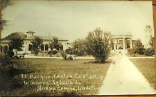 Isla de Pinos/Isle of Pines, Cuba 1930s Realphoto Postcard-Parque Central/School