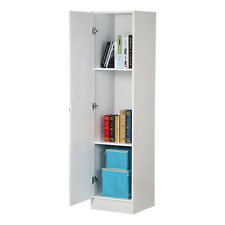 Tall Storage Cabinet Wood Cupboard Shelf Display Organizer Bedroom Furniture