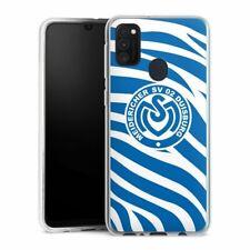 Samsung Galaxy M30s Handyhülle Silikon Hülle Case Blaues Zebra MSV