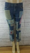 Free People Patch Patchwork skinny jeans SIZE 26/FIT LIKE 28