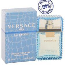 100% Original Versace Man Cologne Blue Men Perfume Eau Fraiche EDT 1.0 oz 30 ml