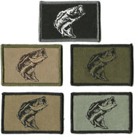 """BuckUp Tactical Morale Patch Hook Fishing Bass Wildlife Patches 3x2"""""""