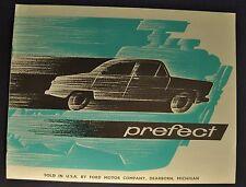 1960 Prefect English Ford Catalog Sales Brochure US Market Excellent Original 60