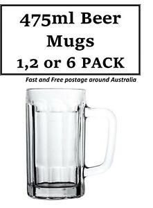 Glass Beer Mug / Tankards / Beer Glass 475ml