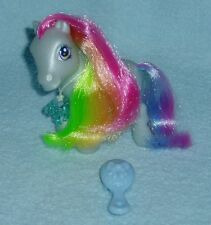"Rare My Little Pony ""Rainbow Dash"" w/Pony Charm & Brush Rainbow Celebration EUC!"