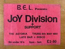 More details for joy division - genuine original concert ticket - the penultimate jd gig 8/5/1980