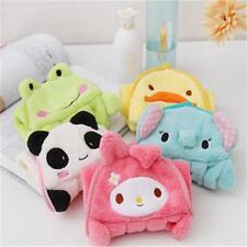 Soft Plush Cute Cartoon Animal Hanging Wipe Bathing Baby Kids Nursery Hand Towel