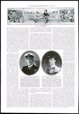 1916-antica stampa Naval RITRATTI PRIMO MARE LORDS Jackson JELLICOE (136)