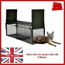 Small Animal Trap Live Life Catcher Steel 2 Door Cage Bait Guinea Pig Rabbit Fox