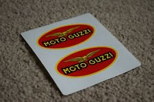 MOTO GUZZI Red Oval Classic Le Mans Helmet Motorcycle Decals Stickers Logo 100mm