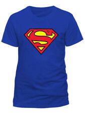 Superman Logo Classic Official Movie DC Comics Justice League Blue Mens T-shirt M