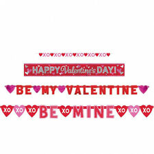 4 x Assorted Valentines Day Banners / Garlands Party Decorations - Bumper Pack