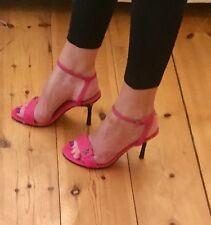 Next Pink Fabric Heels Size 4 / 37 BNWT