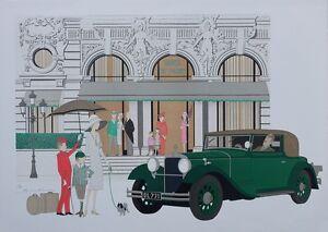 NOYER Denis-Paul : Hôtel de Paris - LITHOGRAPHIE Originale signée, 115 ex