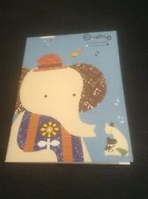 *Mini Blue Booklet Of Lined Note Paper With An Elephant*