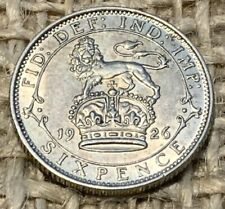 More details for 1926 george 5th silver sixpence 0.5000 ef