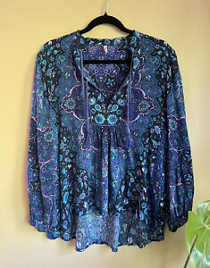 Spell & the Gypsy Collective Designs Kiss The Sky Blouse Bluejay Medium