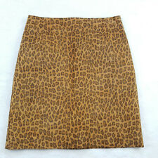 Cache Women's Size 6 Above Knee Leather Pencil Skirt Animal Print Style 1728