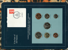Coin Sets of All Nations Great Britain UNC 1£ 1988 1,5,20,50 pence 1990 2,10 '89