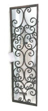 Full Length Metal Wall Mirror Antique Bronze Foyer Wrought Iron Urban Industrial