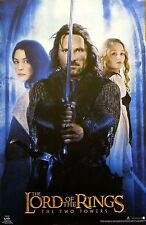 The Lord Of The Rings 23x35 Aragorn Arwen Trio Movie Poster 2002 Two Towers