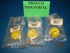 Lot of 3 Lab Safety Supply 52122 Stop Plug Drain Cover with Chain Yellow
