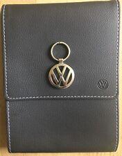 Genuine New Style Volkswagen Handbook or Service Book Wallet & VW Chrome Keyring
