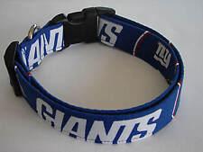 Charming Hand Made NY Giants Dog Collar Medium