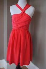 NWT Madewell Twilight Twirl Dress in Vivid Poppy Red 2 XS Extra Small 67160 $178