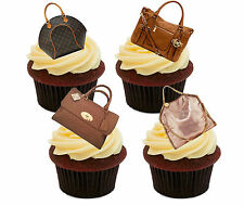 Handbags Edible Cupcake Toppers, Stand-up Fairy Cake Decorations Birthday Girl