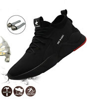 Mens Indestructible Safety Work Shoes Steel Toe Boots Lightweight Sneakers Sale